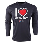 Germany Euro 2016 Heart Long Sleeve Training Top (Black)