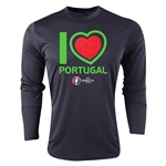 Portugal Euro 2016 Heart Long Sleeve Training Top (Black)