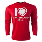 Switzerland Euro 2016 Heart Long Sleeve Training Top (Red)