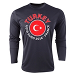 Turkey Euro 2016 Fashion Long Sleeve Training Top (Black)