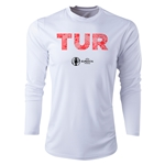 Turkey Euro 2016 Elements Long Sleeve Training Top (White)