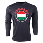 Hungary Euro 2016 Fashion Long Sleeve Training Top (Black)
