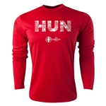 Hungary Euro 2016 Elements Long Sleeve Training Top (Red)