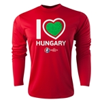 Hungary Euro 2016 Heart Long Sleeve Training Top (Red)