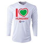 Hungary Euro 2016 Heart Long Sleeve Training Top (White)