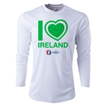 Ireland Euro 2016 Heart Long Sleeve Training Top (White)