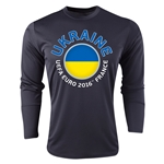 Ukraine Euro 2016 Fashion Long Sleeve Training Top (Black)