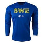 Sweden Euro 2016 Elements Long Sleeve Training Top (Royal)