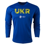 Ukraine Euro 2016 Elements Long Sleeve Training Top (Royal)