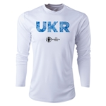 Ukraine Euro 2016 Elements Long Sleeve Training Top (White)