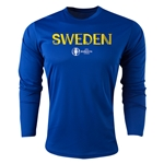 Sweden Euro 2016 Core Long Sleeve Training Top (Royal)