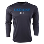 Ukraine Euro 2016 Core Long Sleeve Training Top (Black)
