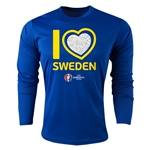 Sweden Euro 2016 Heart Long Sleeve Training Top (Royal)