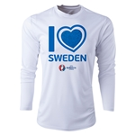 Sweden Euro 2016 Heart Long Sleeve Training Top (White)