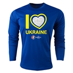 Ukraine Euro 2016 Heart Long Sleeve Training Top (Royal)