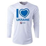 Ukraine Euro 2016 Heart Long Sleeve Training Top (White)