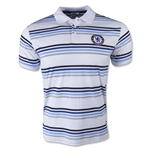 Chelsea FC Striped Polo (White/Royal)