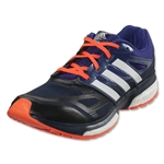 adidas Response Boost TechFit Running Shoe (Collegiate Navy/Amazon Purple/Solar Red)