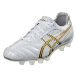 Asics DS Light 6 Wide Fit Cleat (Pearl White/Gold)