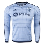 Sporting KC 2015 LS Authentic Home Soccer Jersey