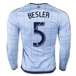 Sporting KC 2015 BESLER LS Authentic Home Soccer Jersey