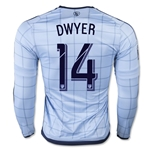 Sporting KC 2015 DWYER LS Authentic Home Soccer Jersey