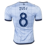 Sporting KC 2015 ZUSI Authentic Home Soccer Jersey