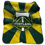 Portland Timbers Raschel Throw Blanket