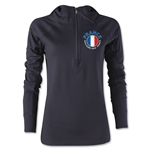 France Euro 2016 Women's Fashion Training Hoody (Black)