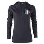 Italy Euro 2016 Women's Fashion Training Hoody (Black)