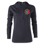 Portugal Euro 2016 Fashion Sudadera Femenil (Negra)
