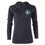Sweden Euro 2016 Women's Fashion Training Hoody (Black)