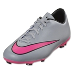 Nike Junior Mercurial Victory V FG (Wolf Gray/Hyper Pink)