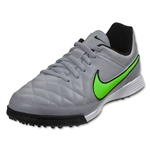 Nike Junior Tiempo Genio Leather TF (Wolf Gray/Green Strike)