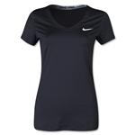 Nike Pro Core V-Neck Women's T-Shirt (Black)
