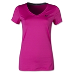 Nike Pro Core V-Neck Women's T-Shirt (Pink)