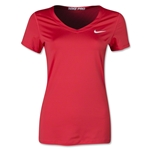 Nike Pro Core V-Neck Women's T-Shirt (Red)