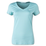 Nike Pro Core V-Neck Women's T-Shirt (Teal)