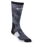 Nike Elite Match Fit Soccer Crew Sock (Blk/Wht)