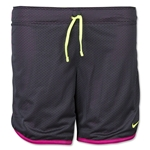 Nike Women's 7 Mesh Girls Short (Gray)