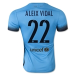 Barcelona 15/16 ALEIX VIDAL Authentic Third Soccer Jersey