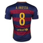 Barcelona 15/16 A. INIESTA Home Soccer Jersey