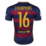 Barcelona 2016 CHAMPIONS Home Soccer Jersey