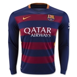 Barcelona 15/16 LS Home Soccer Jersey