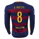 Barcelona 15/16 A. INIESTA LS Home Soccer Jersey