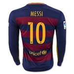 Barcelona 15/16 MESSI LS Home Soccer Jersey