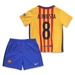 Barcelona 15/16 A. INIESTA Little Boys Away Kit