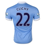 Manchester City 15/16 CLICHY Authentic Home Soccer Jersey