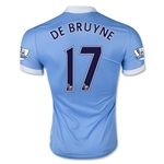 Manchester City 15/16 DE BRUYNE Authentic Home Soccer Jersey