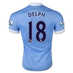 Manchester City 15/16 DELPH Authentic Home Soccer Jersey